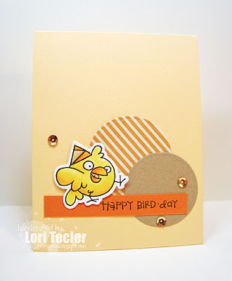Happy Bird-Day card-designed by Lori Tecler/Inking Aloud-stamps from Paper Smooches