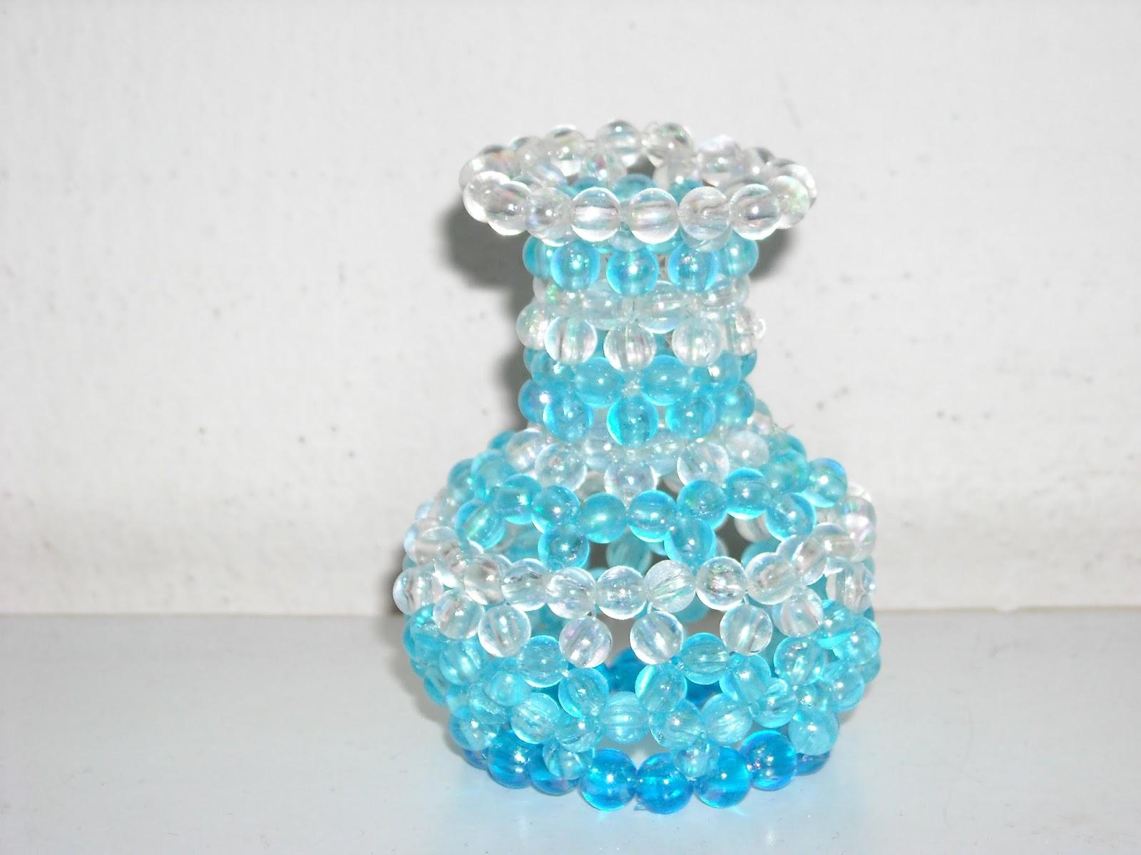 My craftwork collection & My craftwork collection: My DIY beaded flower vase