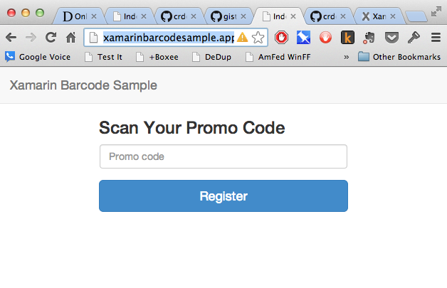 CDeutsch's Blog: How to Add Barcode Scanning to your Web App using