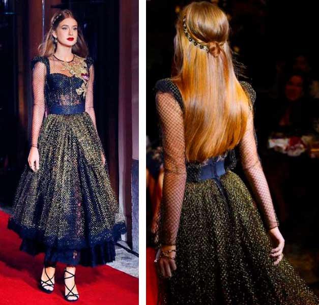 Marina Ruy Barbosa desfile da Dolce Gabbana