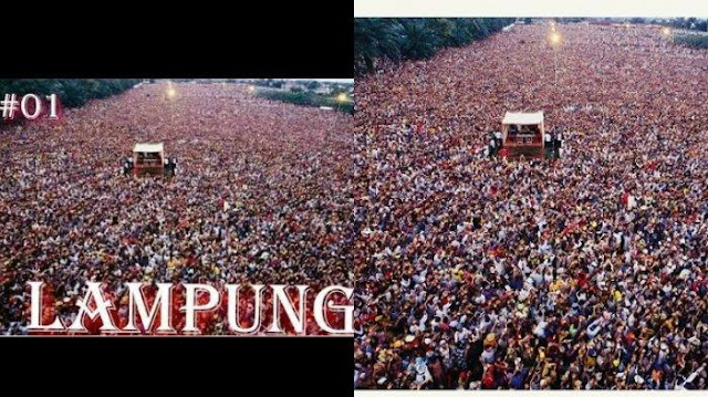 Viral Foto Kampanye Jokowi di Lampung bak Lautan Manusia, Ternyata Foto di Afrika, Memalukan!