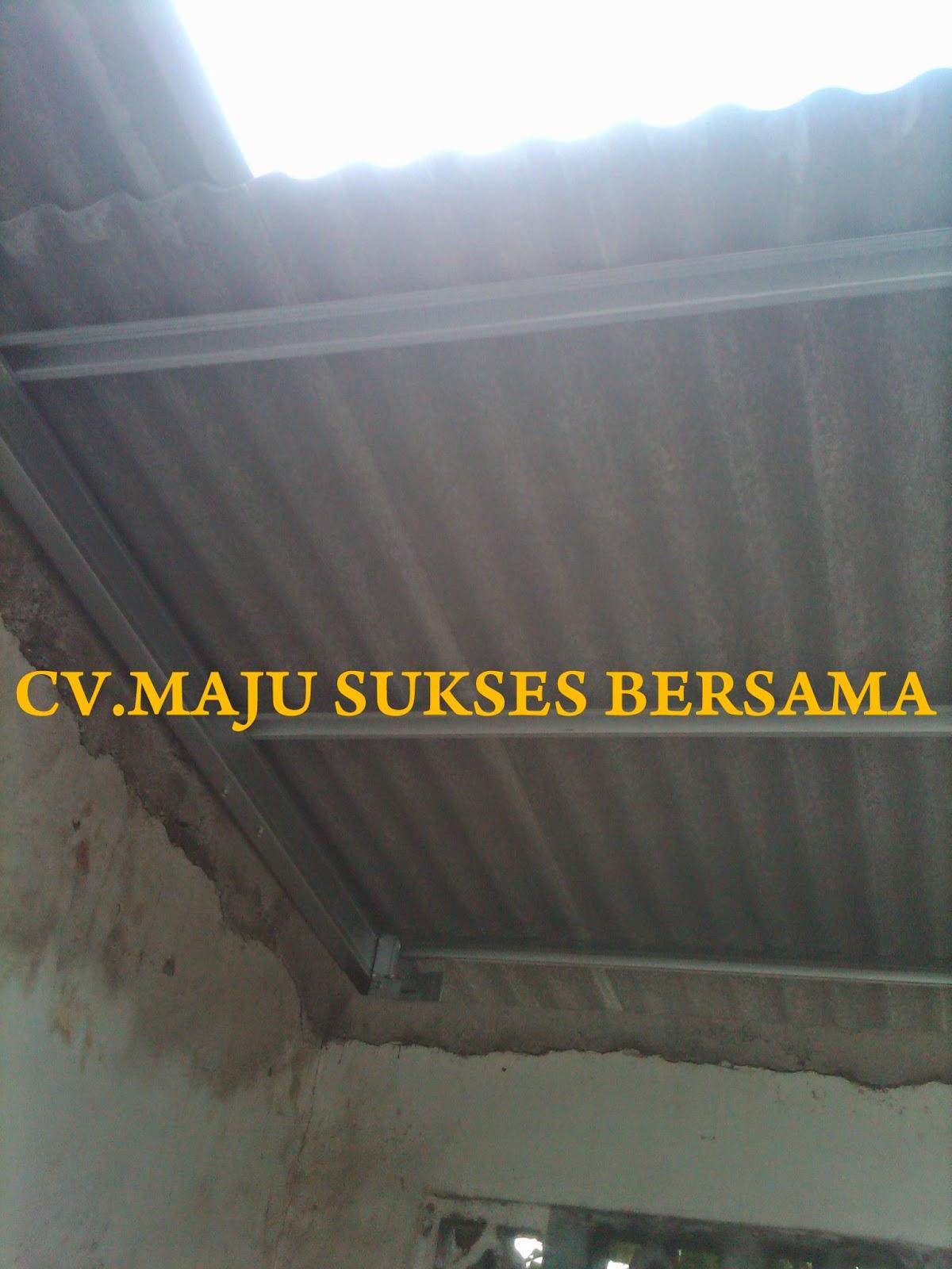 rangka baja ringan untuk atap asbes menggunakan taruna truss