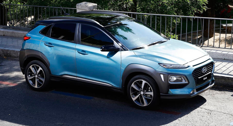Hyundai Kona small crossover debuts at LA auto show