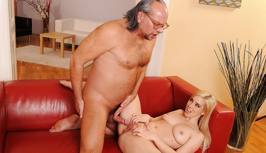 Old man fucks young slut