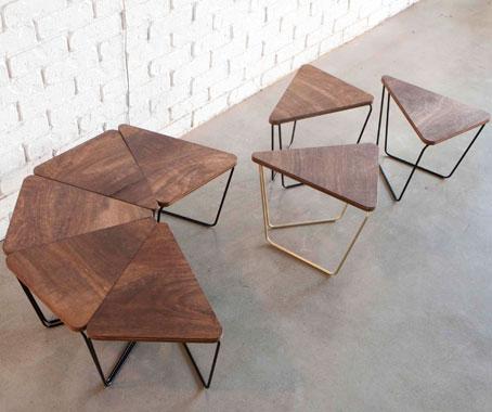 log triangular modular table fractals. Black Bedroom Furniture Sets. Home Design Ideas