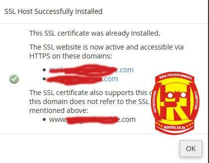 berhasil menginstal SSL