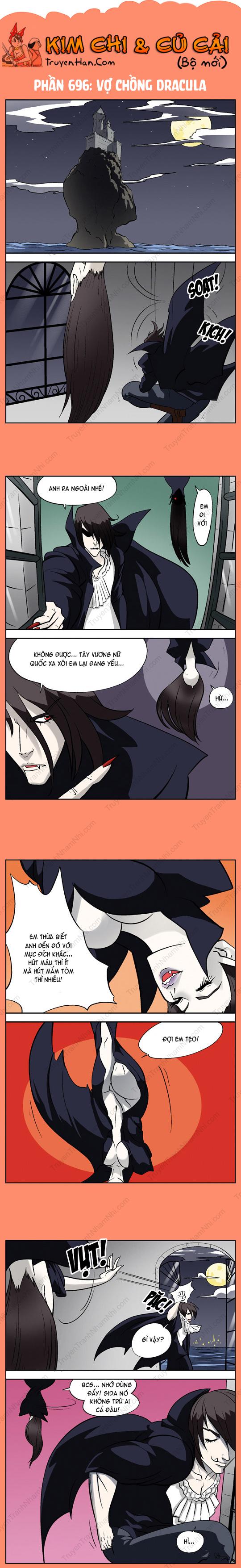 Kim Chi Và Củ Cải Phần 696: Vợ chồng Dracula