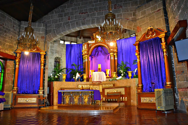 Bacoor Church retablo and altar during the Holy Week