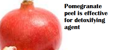 Pomegranate peel is effective for detoxifying agent