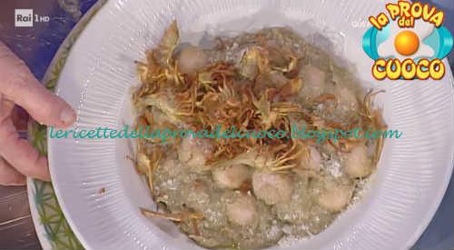 Gnocchetti di ricotta e prosciutto con carciofi ricetta Moroni da Prova del Cuoco