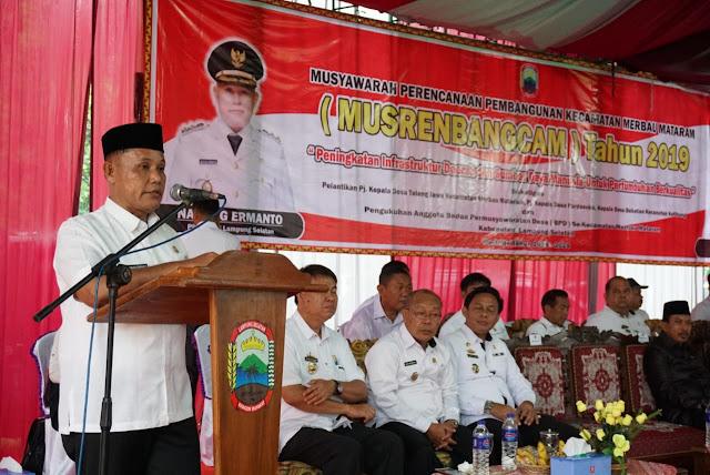 Pemkab Lamsel Gelontorkan Anggaran Pembangunan Rp 48 Miliar di Kecamatan Merbau Mataram