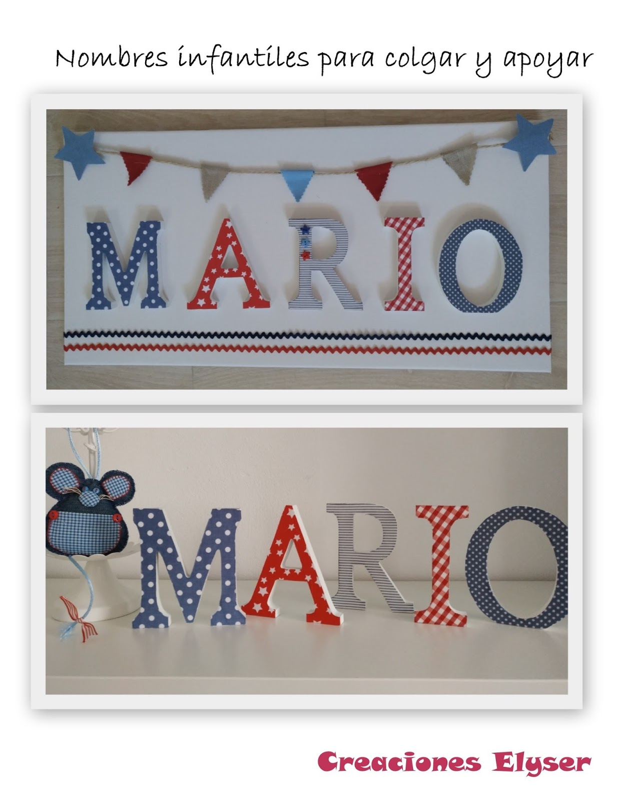 estanteras o bien forman un bonito cuadro para colgar en la pared de la habitacin de los ms peques de la casa medida de letra cm