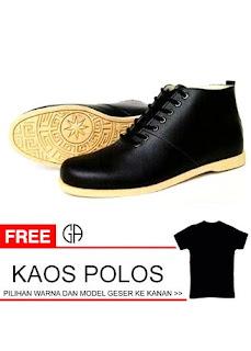 Sepatu Boots Pria GA brodo kulit sintetis  f227a7ce69