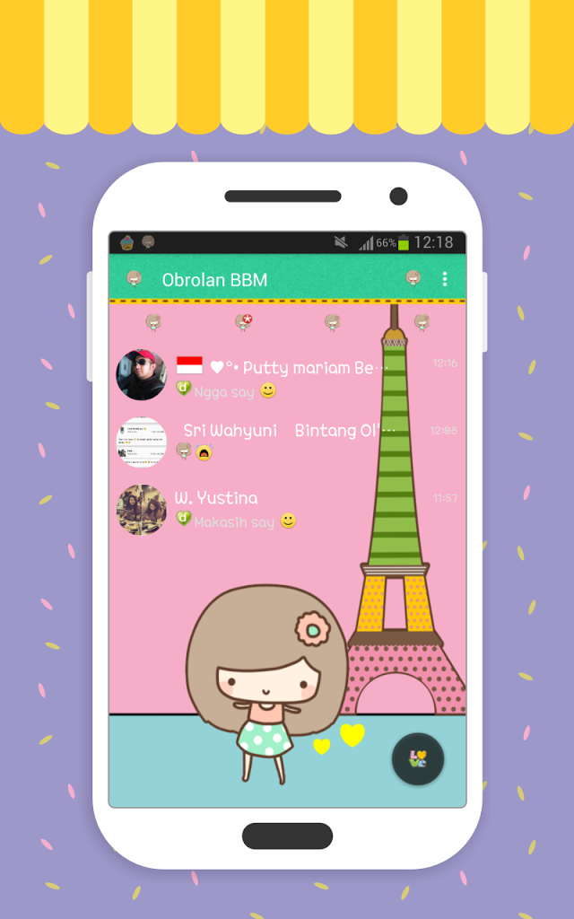 BBM Paris Cute Free Download