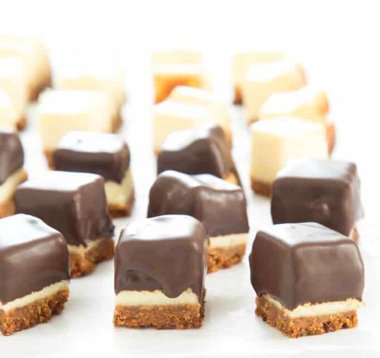 Cheesecake Bites #dessert #cakebites