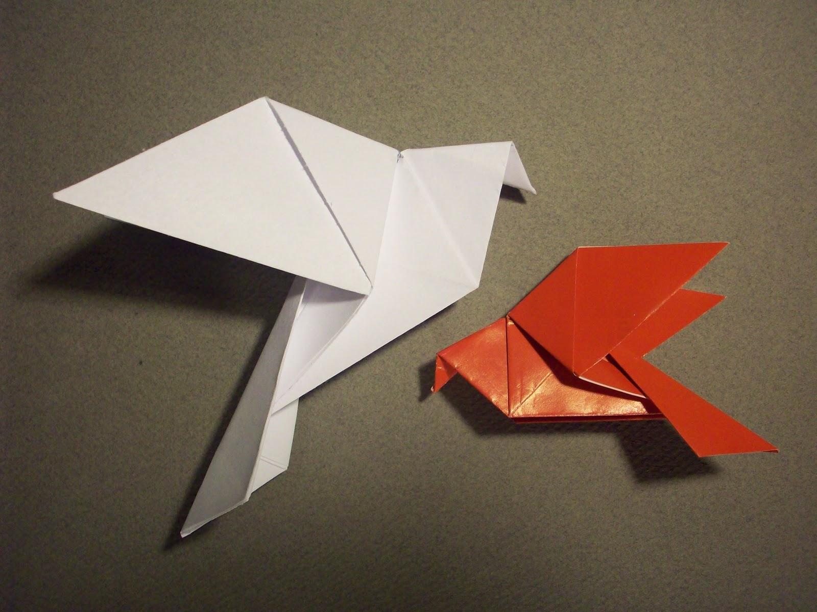 Doodle-ee-doo: Tutorial: Origami Dove - photo#3
