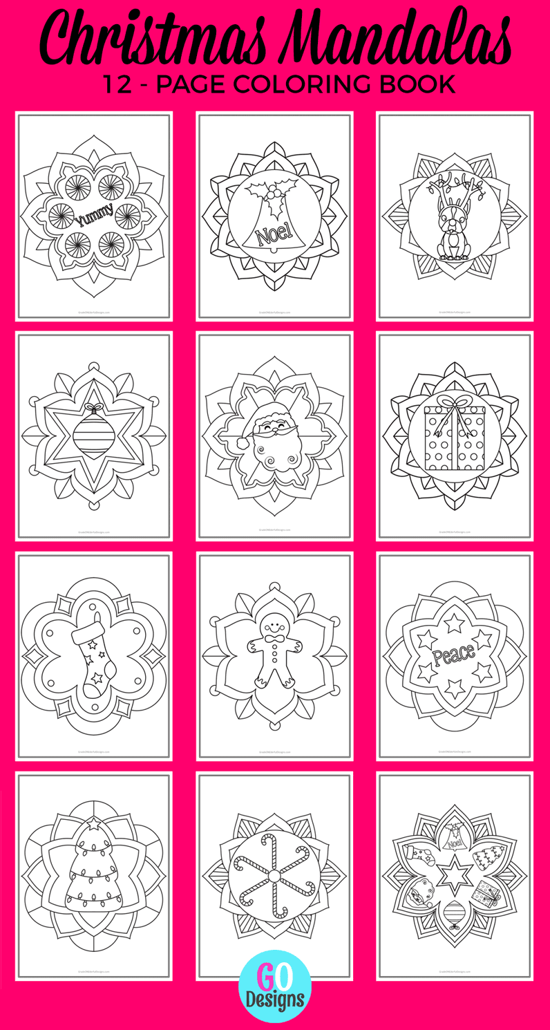 Christmas Mandala Coloring Pages for Kids!