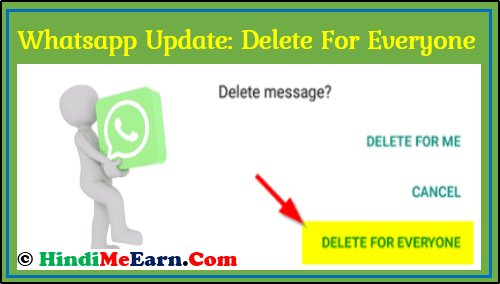 Whatsapp Messenger update: delete for everyone