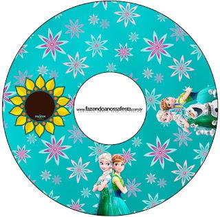 Etiquetas de Frozen Fiebre Congelada para CD's.