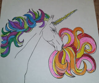 Outside the Lines Too  rainbow unicorn