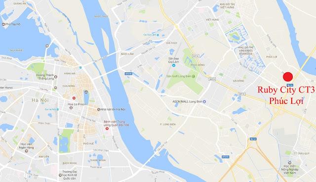 Vị trí đắc địa của Ruby City Ct3