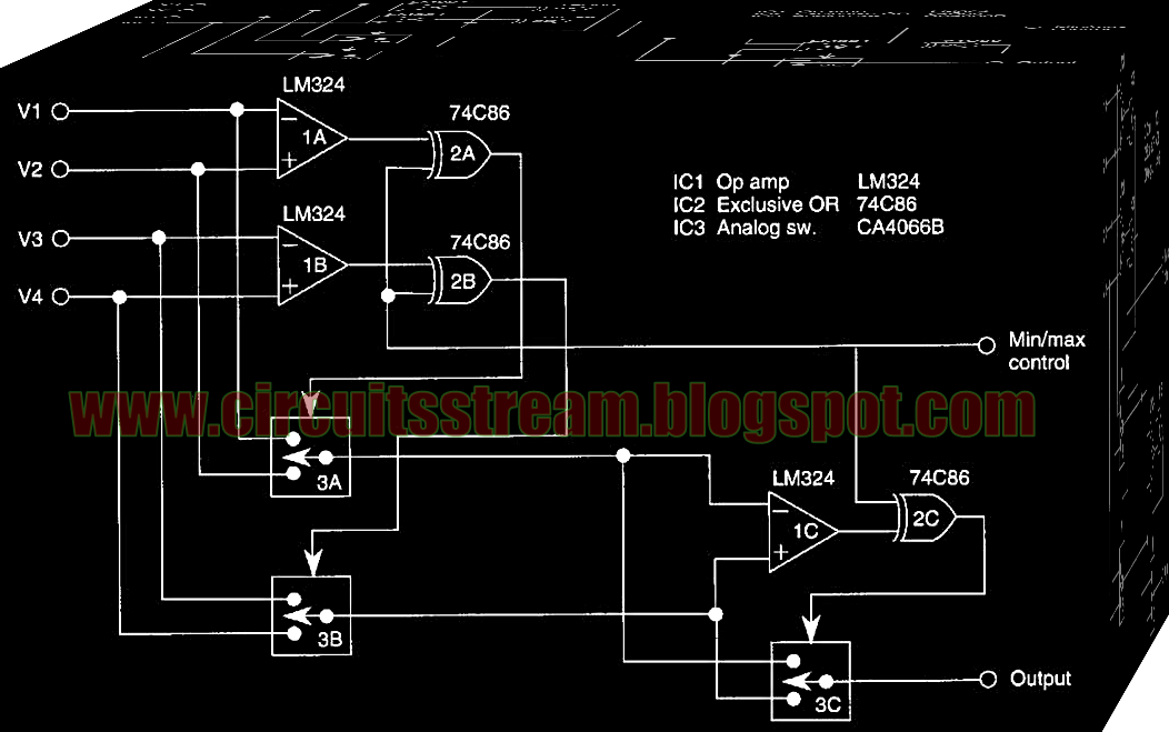 Input Minimum Maximum Selector Circuit Diagram