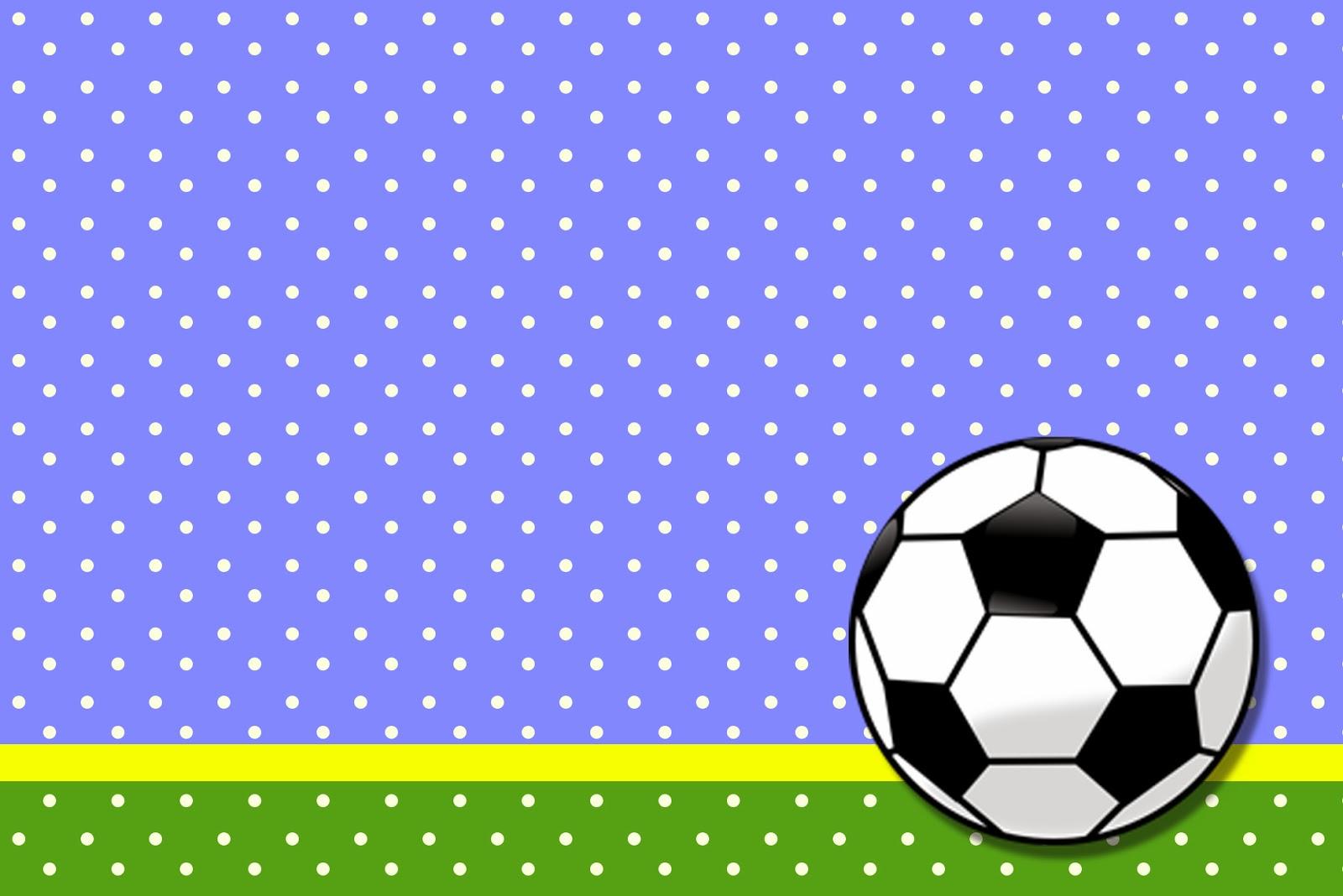 Fútbol Tarjetas O Invitaciones Para Imprimir Gratis