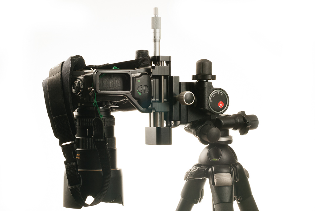 Hejnar PHOTO MS4 Macro / Micro Rail - on Manfrotto 410 geared head