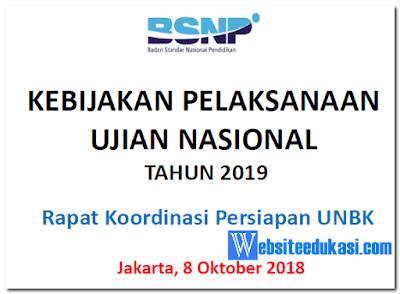 Kebijakan Pelaksanaan UN 2019