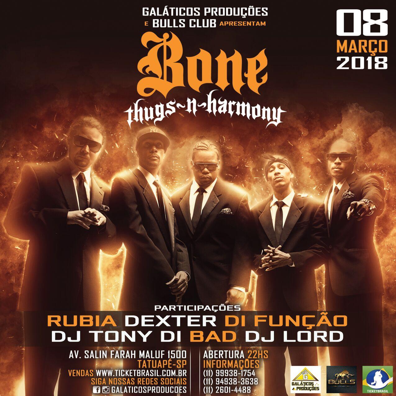 Bones Thugs Harmony pela 2a. vez no Brasil  bdc7b790dc1