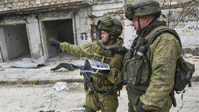 Ρώσοι στρατονόμοι στη Μανμπίτζ