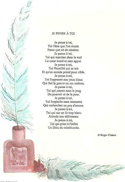 Magnifique poème pour lui dire je pense à toi