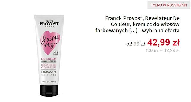 Franck Provost - krem cc do włosów farbowanych