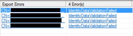 AD Synchronization Error When Adding Exchange 2016