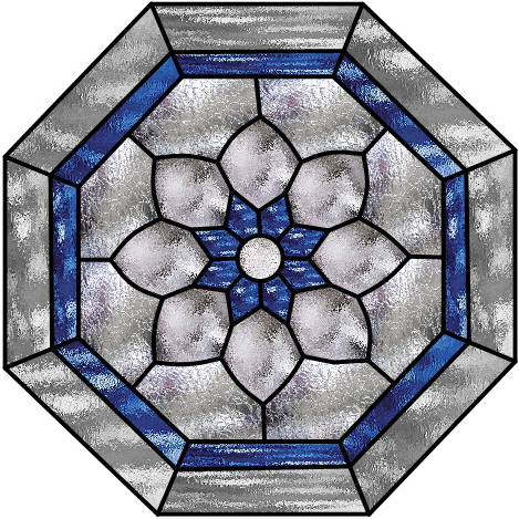 Boehm Stained Glass Blog: Octagonal window pattern