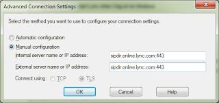 Configurando manualmente clientes Skype for Business para acesso ao Office 365