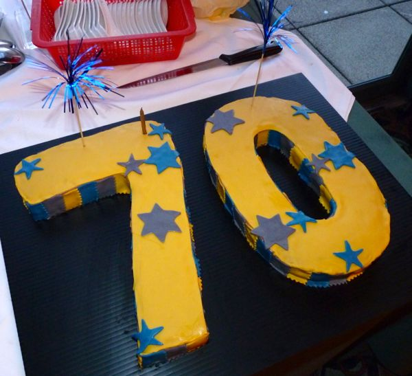 Number Cake For A 70th Birthday
