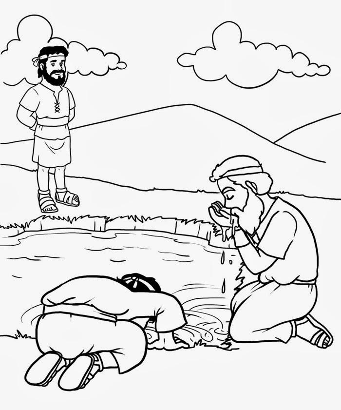 El Renuevo De Jehova Gedeon  Imagenes para colorear cristianas
