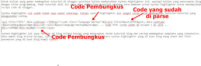 Cara Memasang Prism Syntax Highlighter Di Blogger
