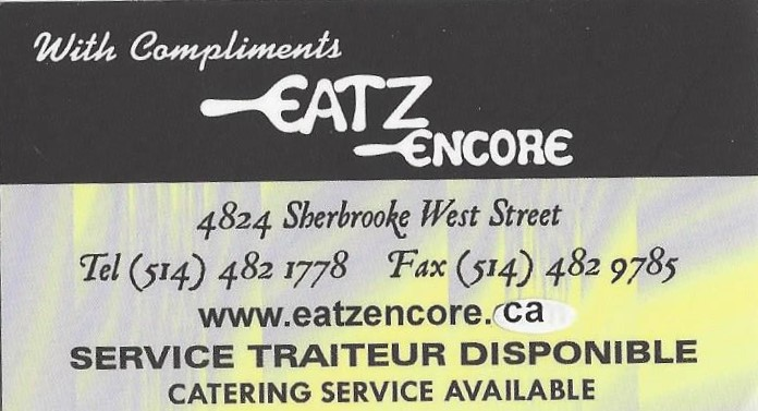 Eatz Encore (restaurant) review by Nancy Snipper