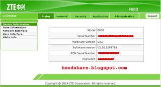 Cek Status Internet di Modem Zte F660 IndiHome (Speedy)