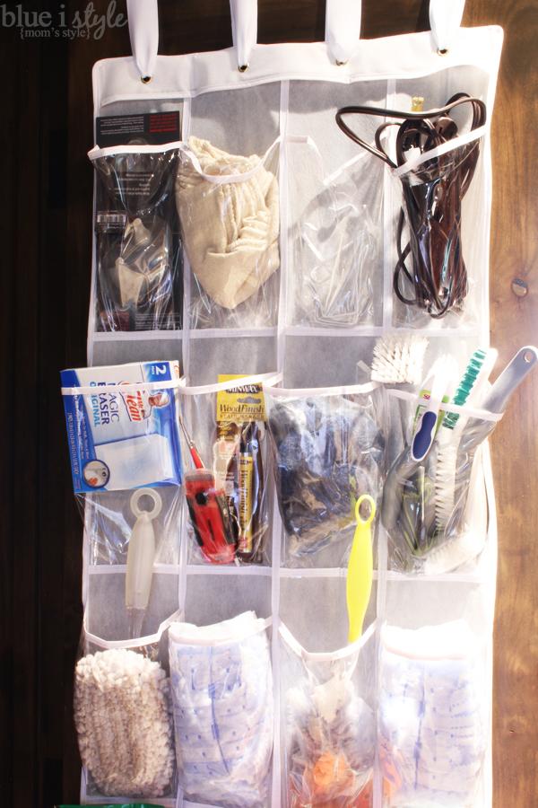 Cleaning Closet Door Organization