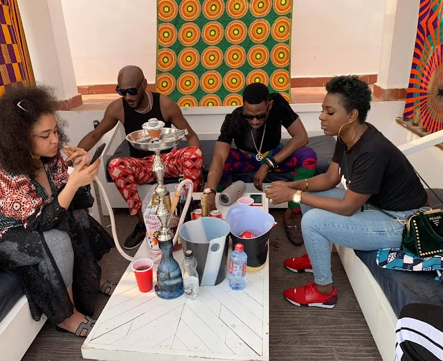 TUFACE AND WIFE CHILLS OUT WITH BANGA LEE