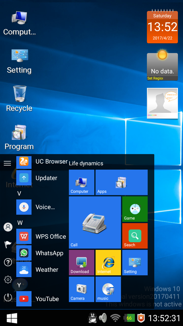 Make your Android Smartphone Looks like Windows 7