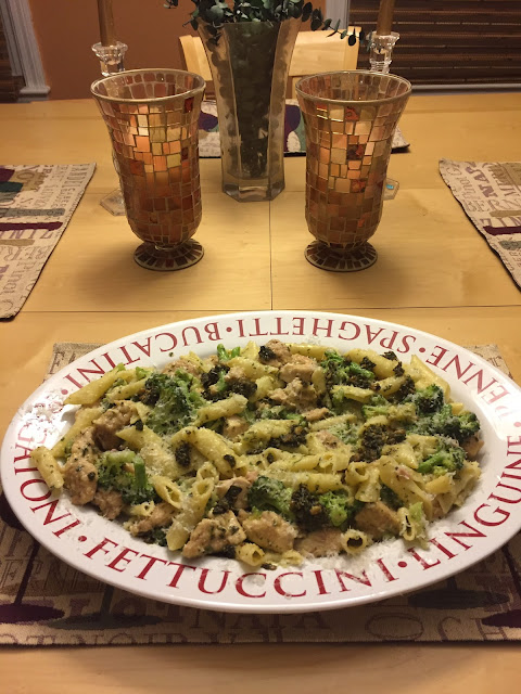 penne con i broccoli/chicken & broccoli wine pairing