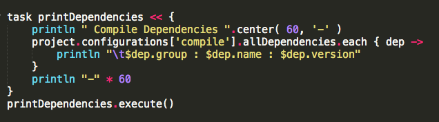 How To: List all compile dependencies using Gradle - Samael me uk