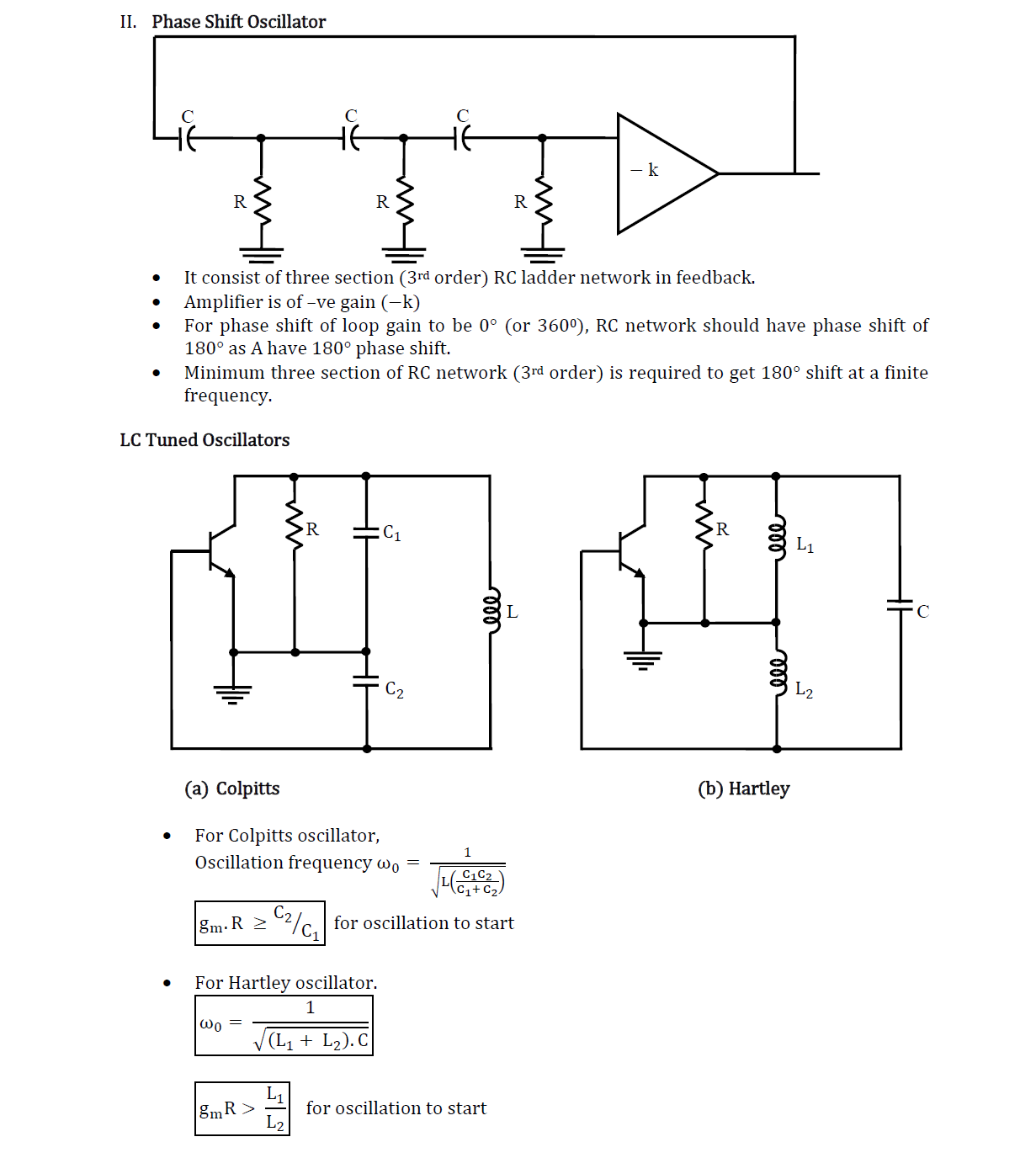 Analog Electronics Revision Notes Gate Ese 2019 Bjt Jfet Frequency Hartley Oscillator Basic Circuit Diagram Share This