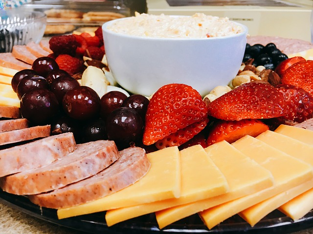 Meat, Cheese, and Fruit Tray