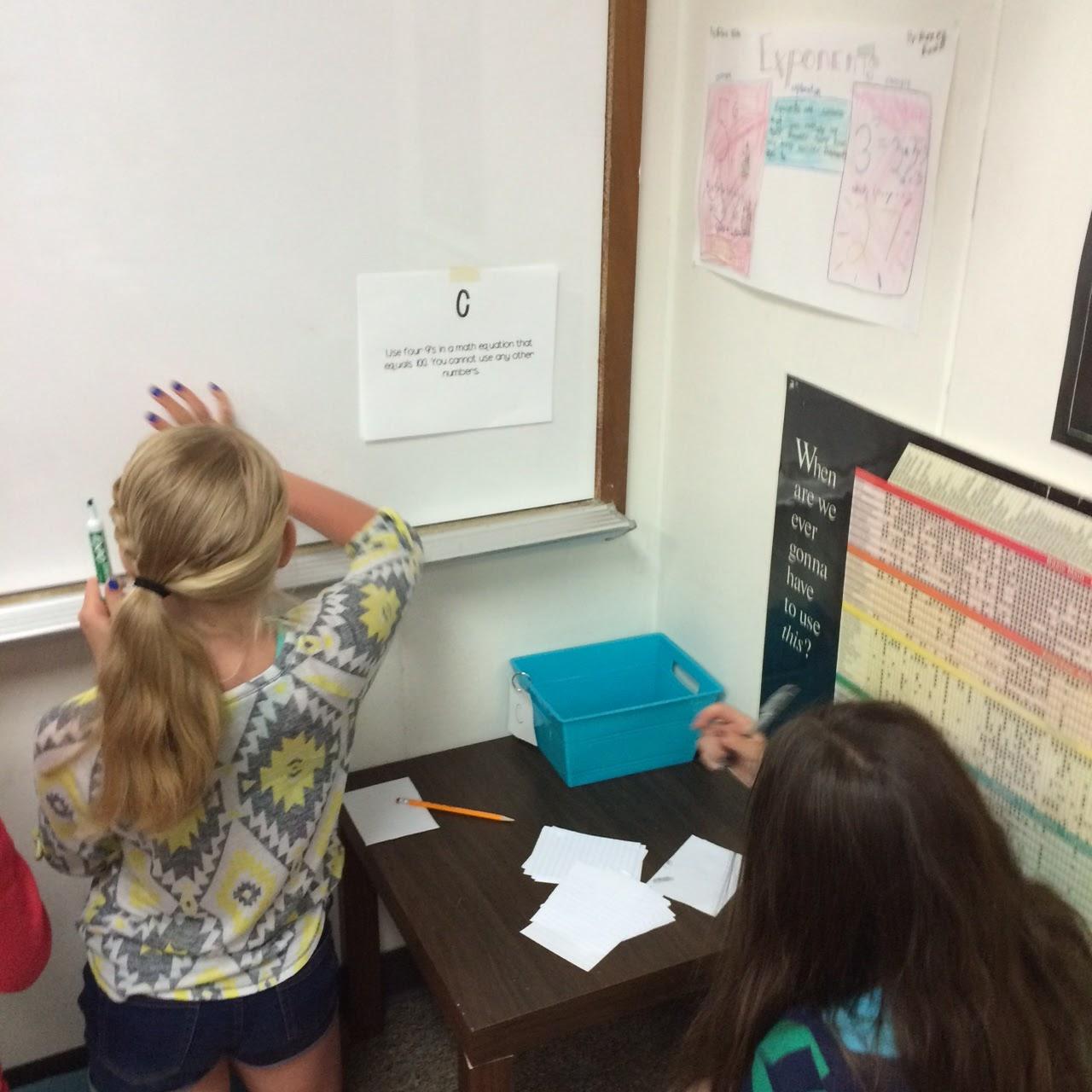 Middle School Math Man Math Brain Teaser Challenge