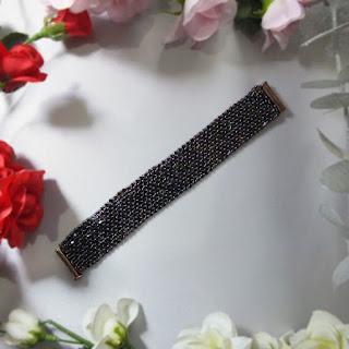 Kare Kristal Boncuk Bileklik çiçek - Nihal'in Rüyası